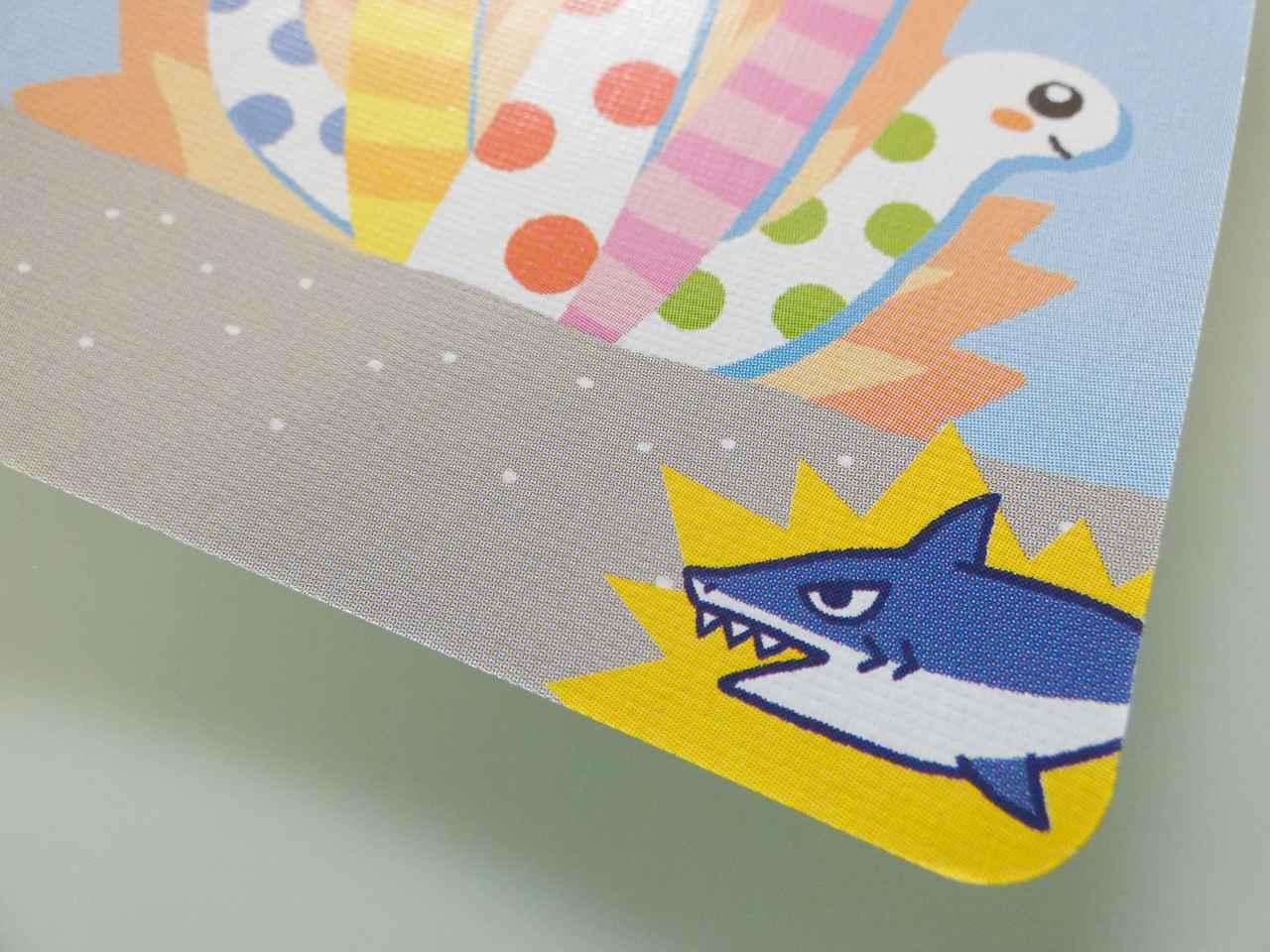 画像: サメアイコンの付いたちんあなごカード(筆者撮影)