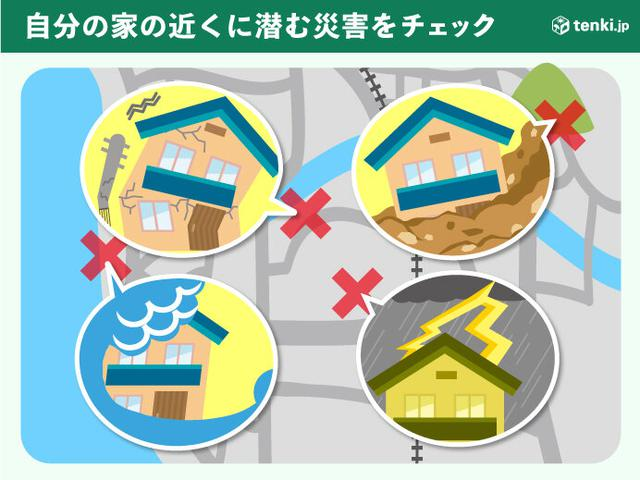 画像: あなたの家の場所にはどんな災害の危険がある?