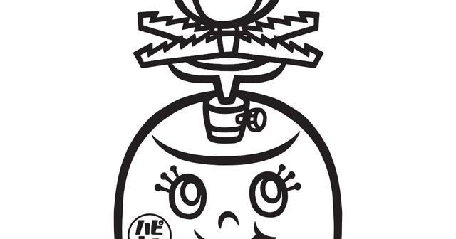 画像: 【塗り絵】ハピキャン道具キャラ_バーニー.pdf