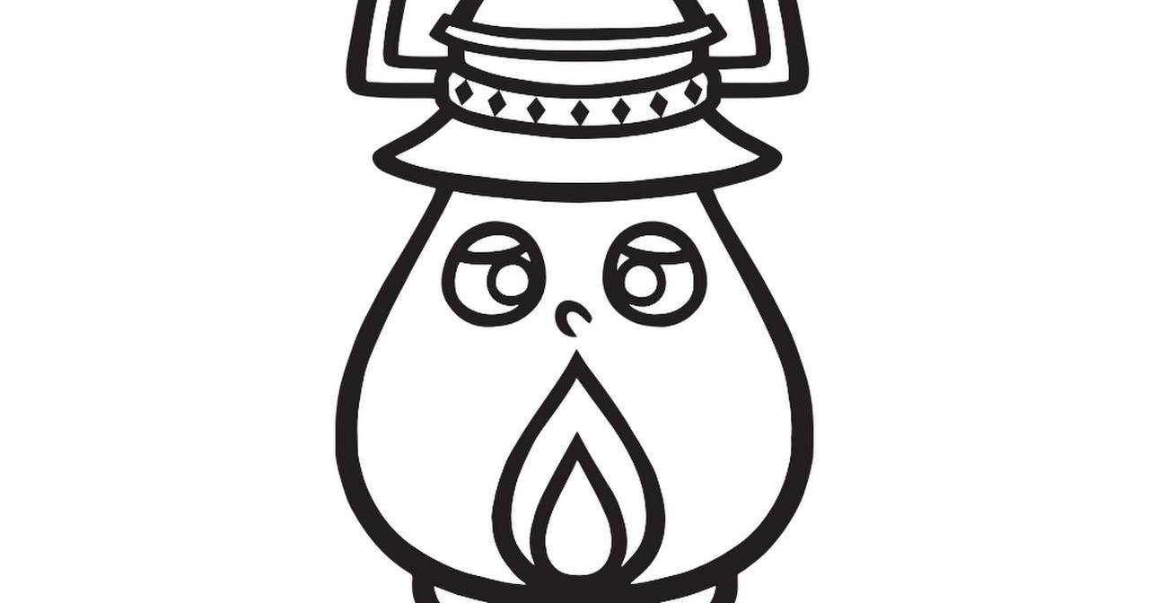 画像: 【塗り絵】ハピキャン道具キャラ_ランピー.pdf