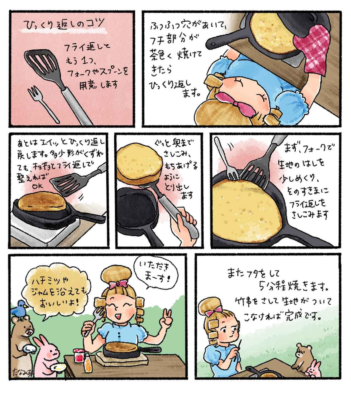画像2: 【レシピ】基本のスキレットケーキの作り方