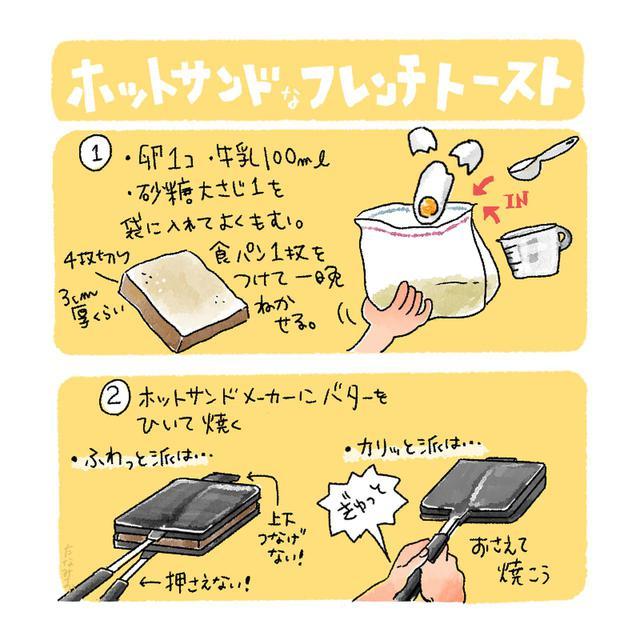 画像: 【ホットサンドDEスイーツレシピ1】袋で簡単フレンチトーストの作り方