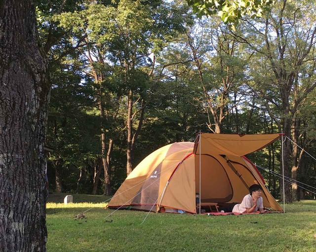 画像: ファミリーキャンプならドームテントがおすすめ! テントの中でも快適に過ごせる◎