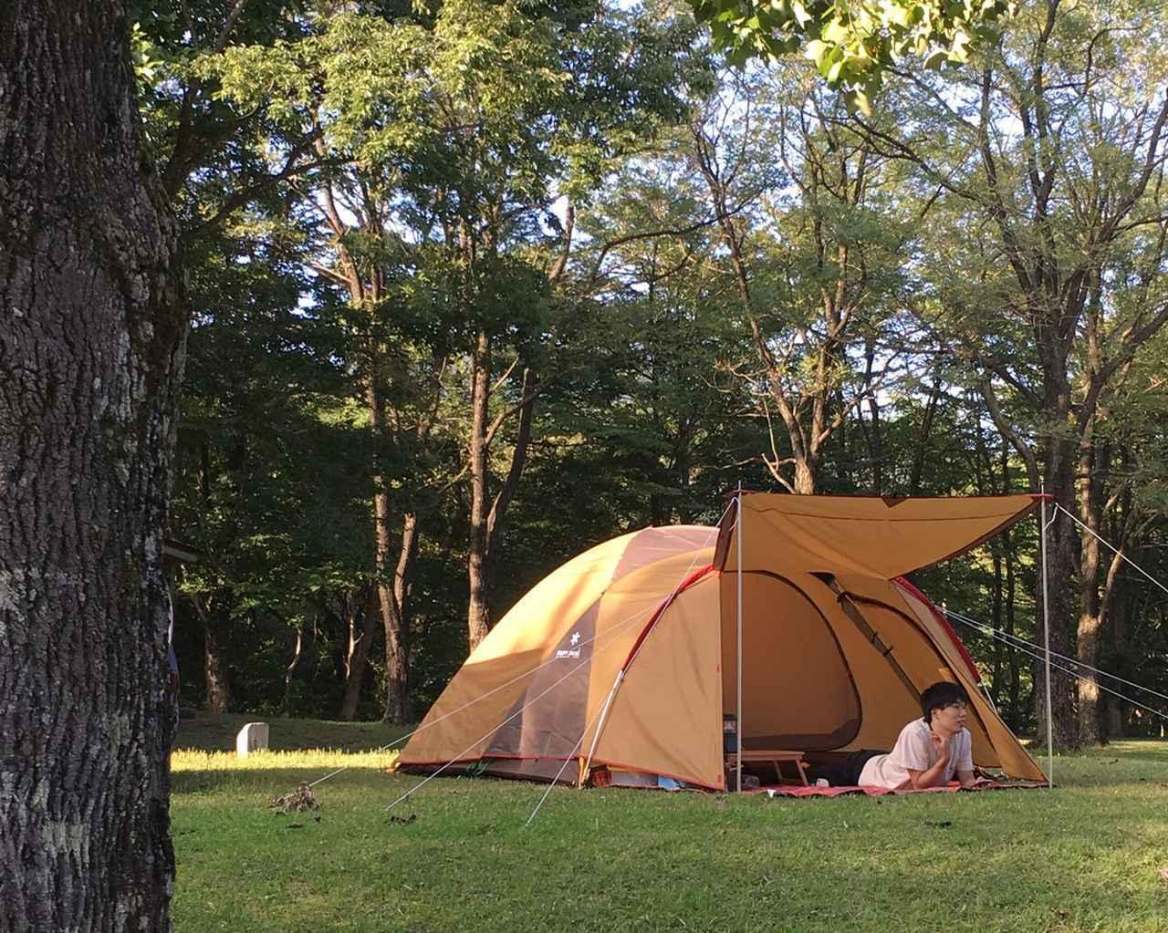 画像: ドーム型は広々・設営簡単でファミリーキャンプ初心者におすすめ 家族の人数に合わせてぴったりなテントを選ぼう!