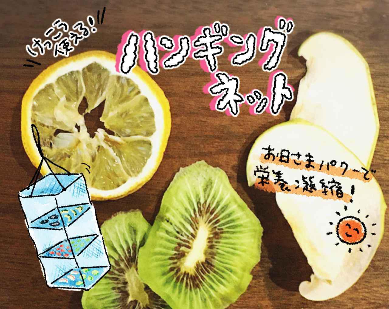 画像: 【ドライフルーツの作り方】ハンギングドライネットで簡単! 干物&干し野菜も - ハピキャン(HAPPY CAMPER)