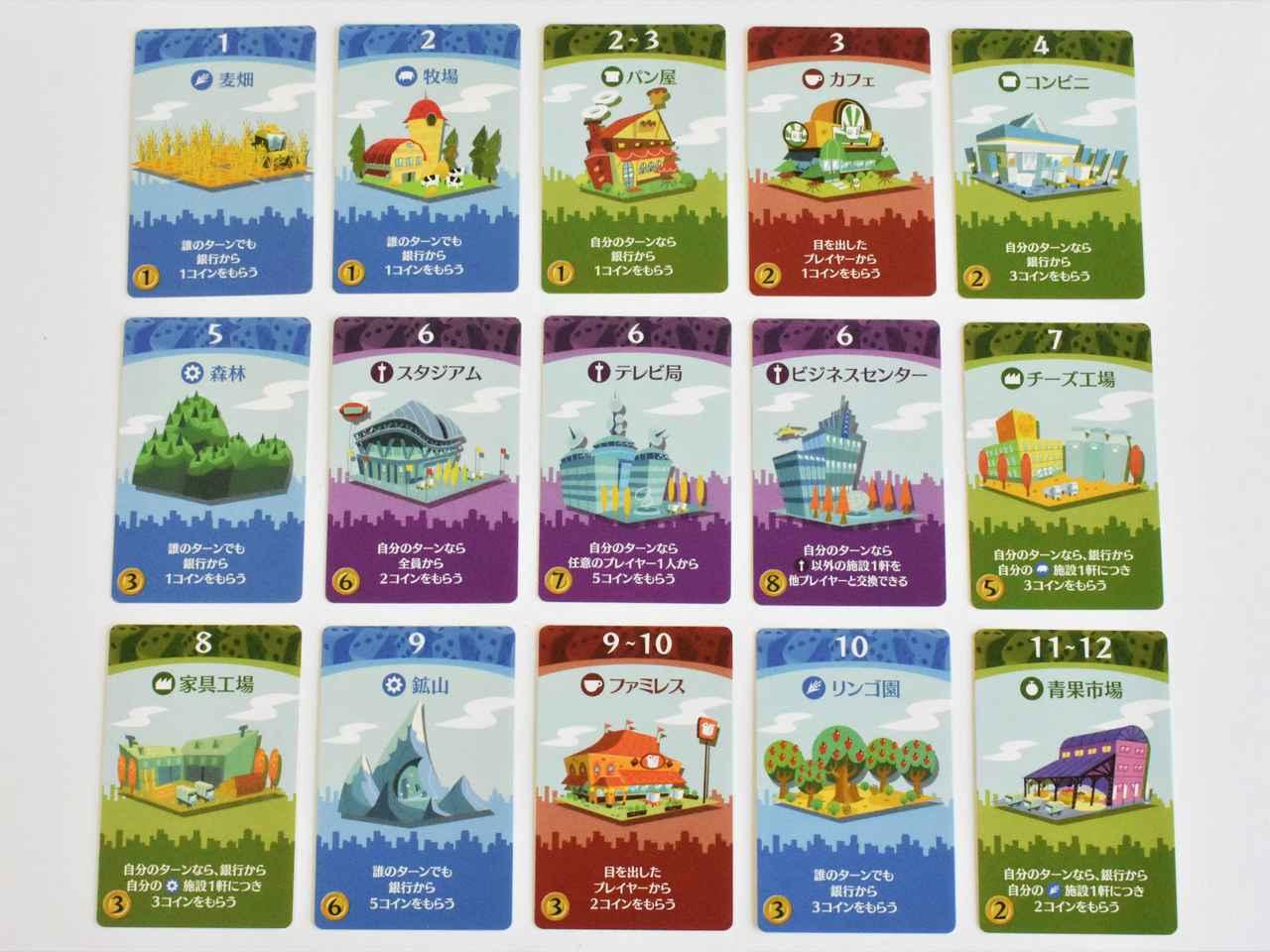 画像: 施設のカードは15種類 (筆者撮影)