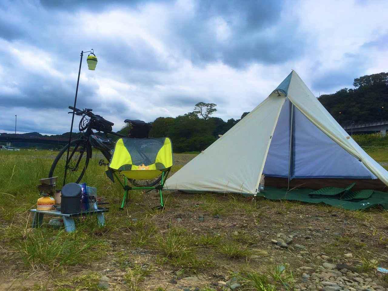 画像1: 【徹底レビュー】自転車ソロキャンプにおすすめ! テンマクデザインのパンダテントの魅力 - ハピキャン(HAPPY CAMPER)