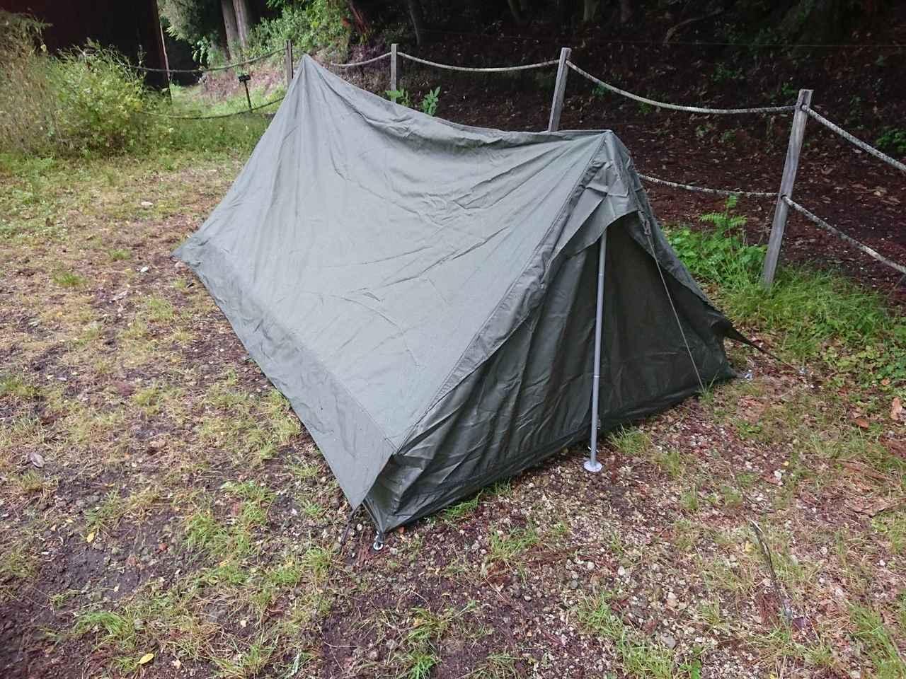 画像: 【F1テントレビュー】ソロキャンプにおすすめ! 被り知らずの最強軍用テントを使ってみた - ハピキャン(HAPPY CAMPER)