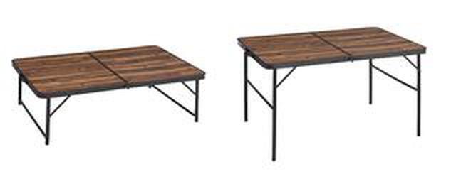 画像2: 【注目リリース】家族でゆったり楽しめる、LOGOS(ロゴス)の「Tracksleeperテーブル」シリーズが出た!