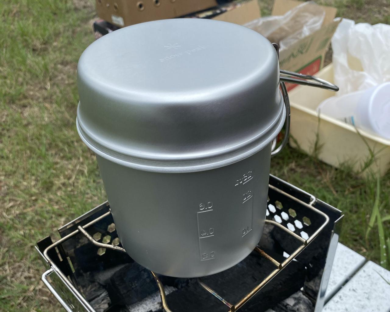 画像: キャプテンスタッグ 丸型ハンゴー 4合炊き M-5546