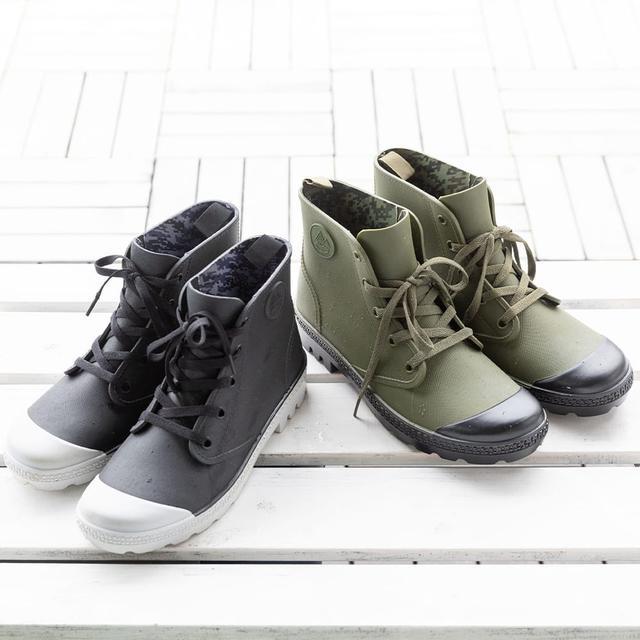 画像1: ワークマン『PVC防水シューズ』をレビュー! 100均アイテムで靴をカスタマイズ!
