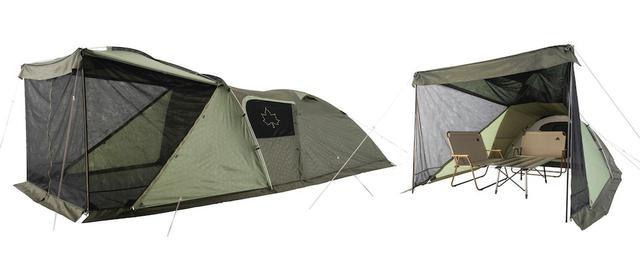 画像: 【注目リリース】大型2ルームの広々設計。LOGOS(ロゴス)の「neos PANELダブルリビングドーム XL-BJ」でテント泊をくつろごう! - ハピキャン(HAPPY CAMPER)