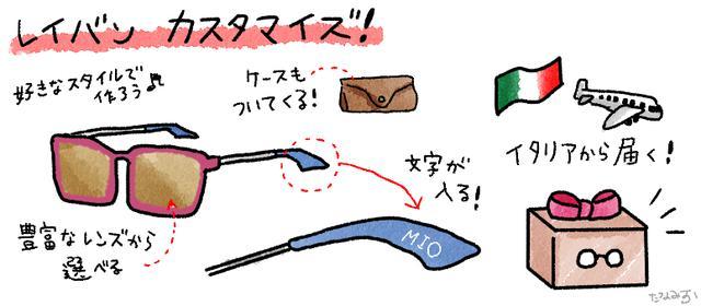 画像: カスタマイズでオリジナルサングラスが作れる!
