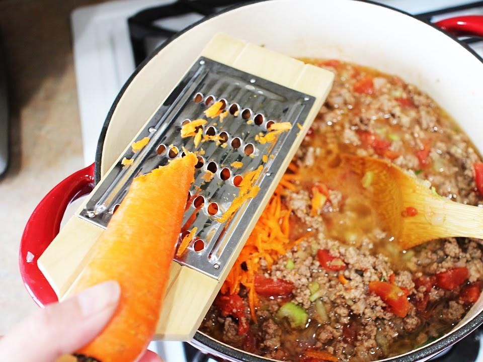 画像7: トマト缶と合わせた基本の下ごしらえ方法を紹介! アレンジ自在なひき肉&トマトのタネを伝授!