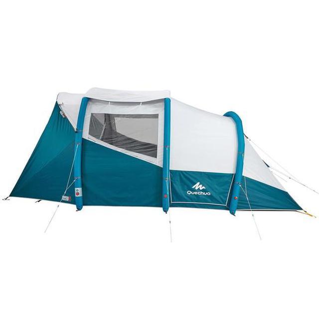 画像1: テントの設営が神的に楽すぎる! デカトロンQUECHUA (ケシュア)の「エアーテント AIR SECONDS FAM5.2 XL」を張ってみた