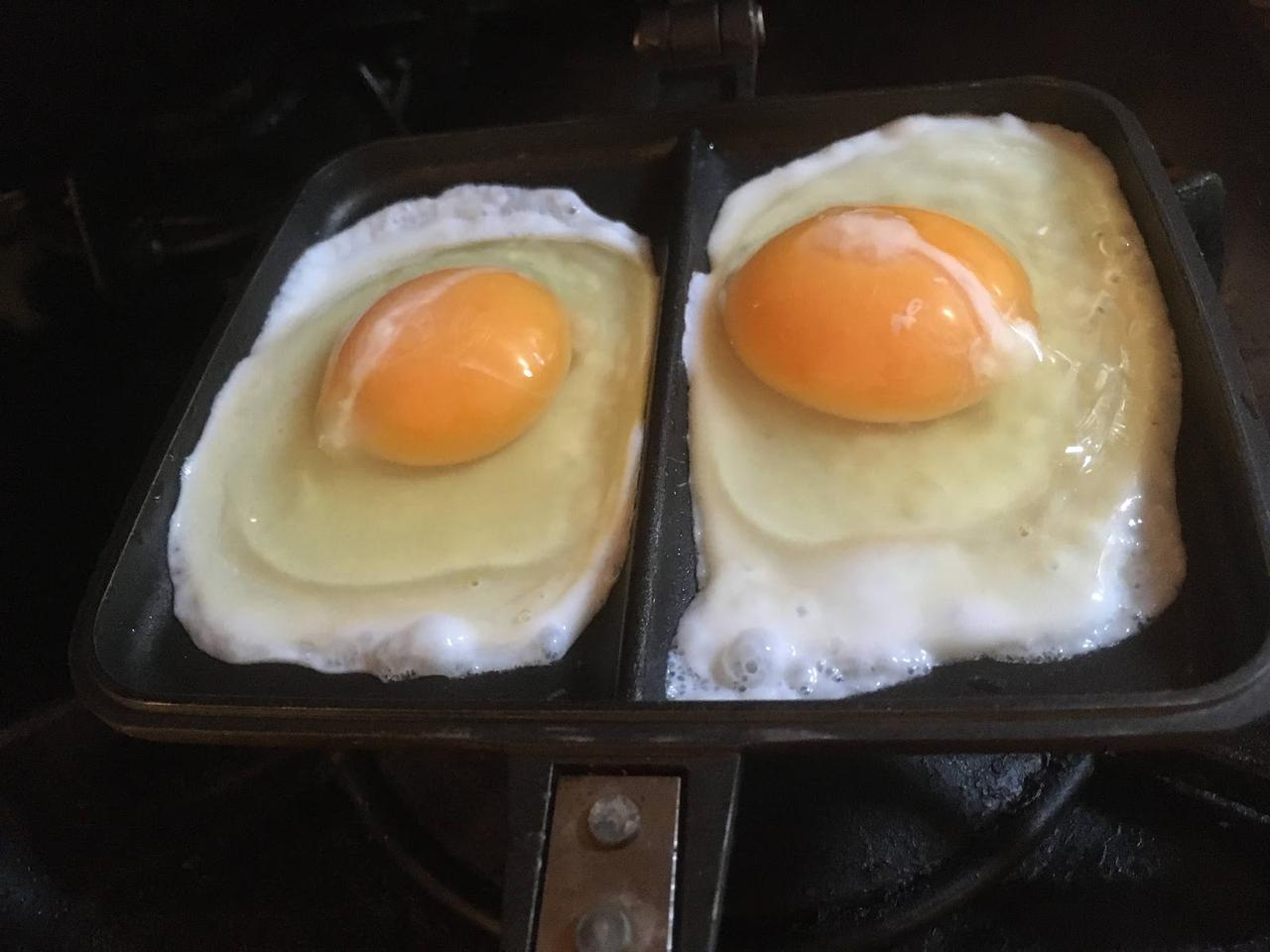 画像: 筆者撮影 このときは卵2つを焼いていますが、今回のレシピは1つで大丈夫です!