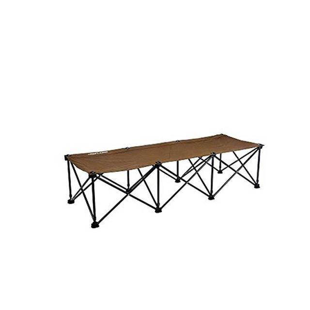 画像1: 【商品レビュー】ユニフレーム リラックスコットは簡単に設営できるゆったりサイズ!本物のベッドのように快適!