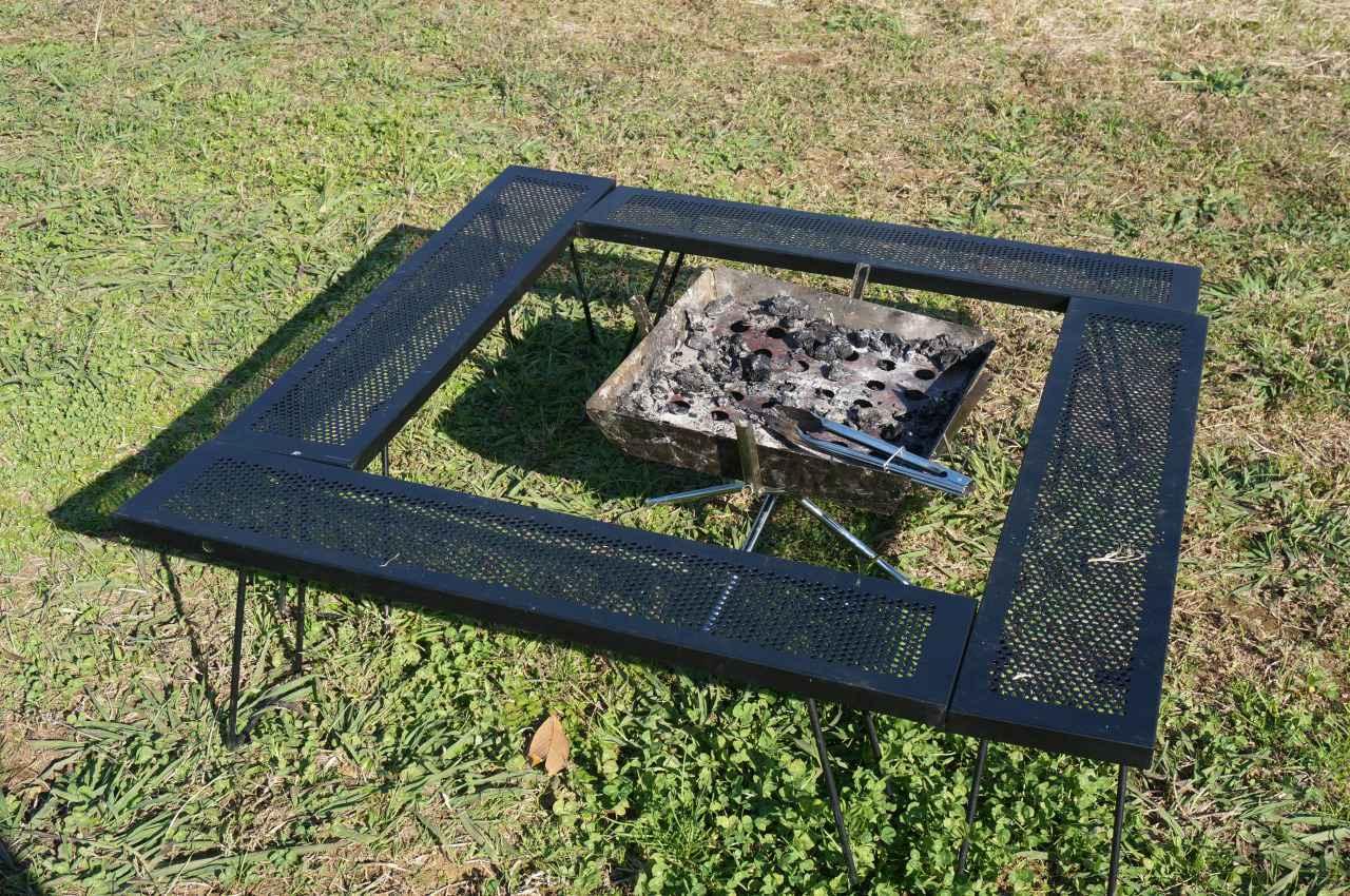 画像: 尾上製作所(ONOE)「マルチファイアテーブル」でBBQや焚き火を安全に!ファミリーに最適 - ハピキャン(HAPPY CAMPER)