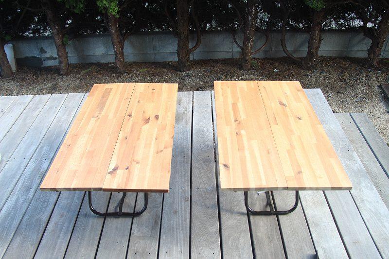 画像: 筆者撮影 パターン4:2つのミニテーブルタイプ