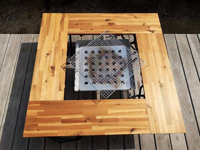 画像: 筆者撮影 パターン1:囲炉裏テーブルタイプ