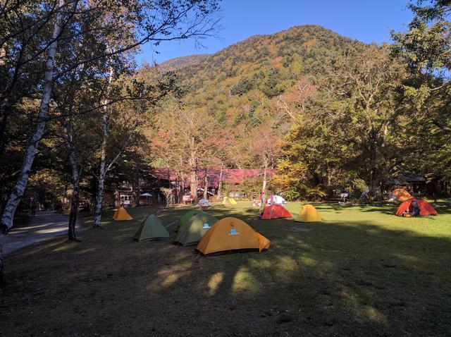 画像: 徳澤キャンプ場 (筆者撮影)