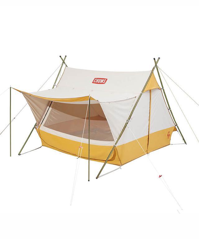 画像1: かわいいだけのテントじゃない! CHUMS(チャムス)2020新作テント「エーフレームテントT/C 4」レビュー