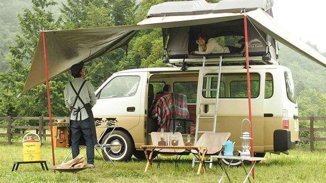 画像1: 【バンライフ】ルーフテントでお手軽快適な旅に出よう! 野あそび夫婦が車上泊に挑戦 - ハピキャン(HAPPY CAMPER)