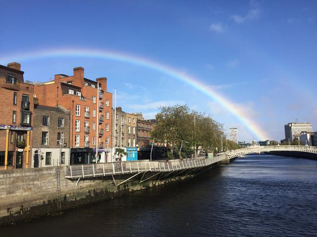画像: 筆者撮影 虹は頻繁に出現します。