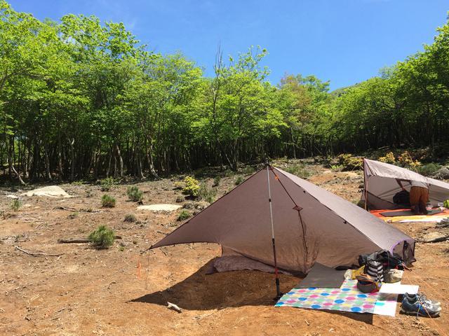 画像: 筆者撮影 登山時にはよくパーゴワークスのニンジャタープを持って行きます。