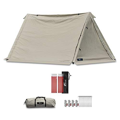 画像2: フィールドア「パップテント320」を徹底レビュー! ポリコットン製で小雨でも使えるおすすめテント