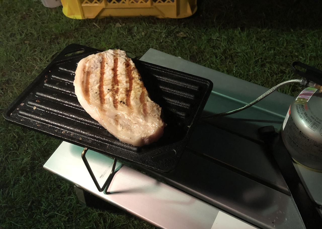 画像: 筆者撮影 厚めのお肉をじっくりと焼くのが筆者の最大の贅沢