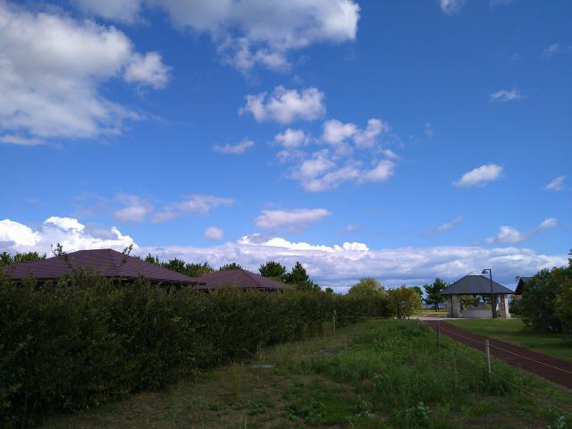 画像: 筆者撮影「コテージの周りは緑が多く、公園側から見えにくい」