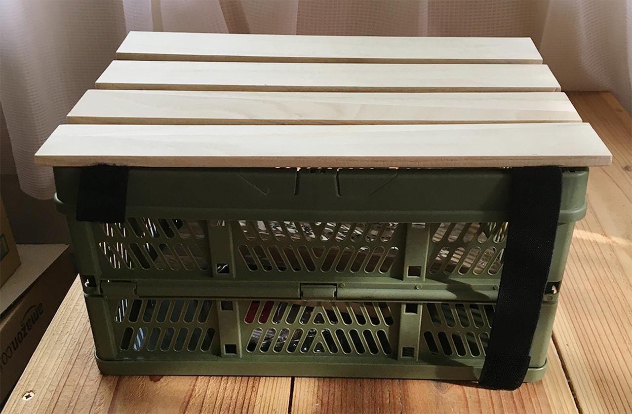 画像: キャンプテーブルを簡単DIY!「折りたたみコンテナテーブル」の作り方 - ハピキャン(HAPPY CAMPER)