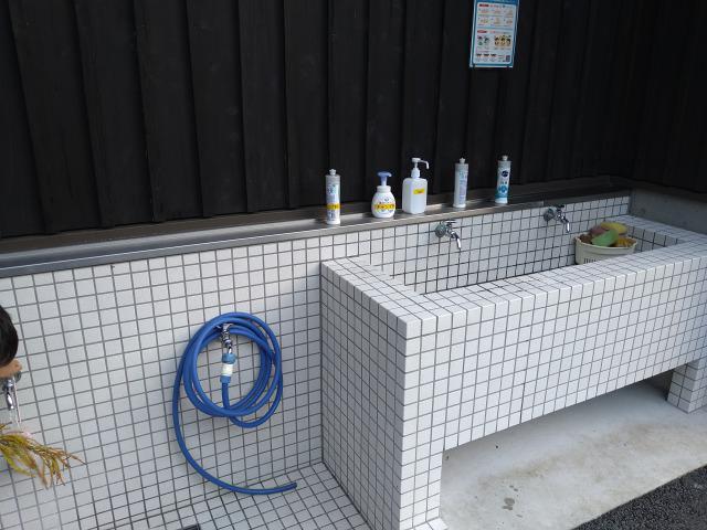画像: 筆者撮影「キレイに管理された洗い場」