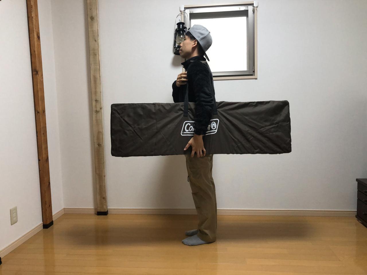 画像: 筆者撮影 バタフライテーブルは折りたたむことができます。