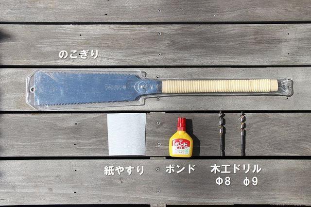 画像: 筆者撮影 ファイヤーピストンに木製棒を取り付けるのに必要な工具