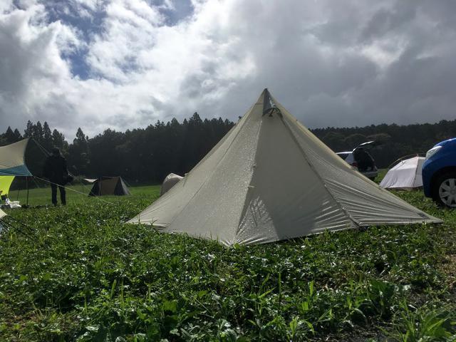 画像: 筆者撮影 テントがびしょ濡れのまま撤収はできればしたくない…
