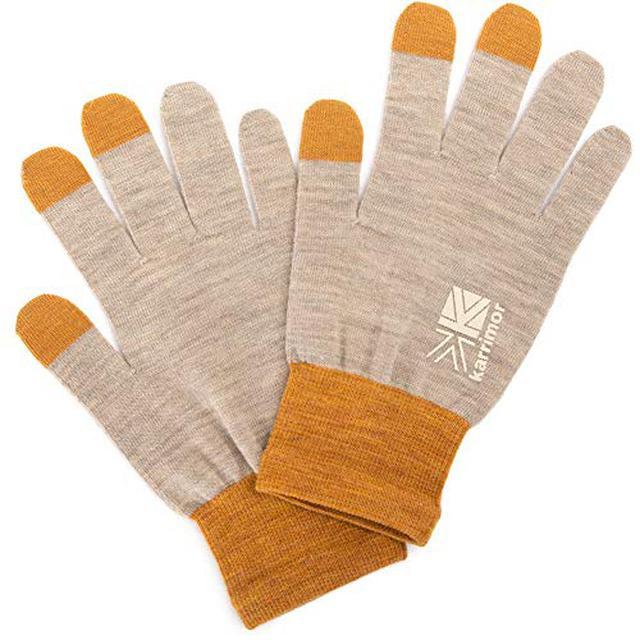 画像1: 【筆者愛用】カリマーの手袋「ウールロゴグローブ」は薄手なのに暖かい! 着けたままスマホ操作も