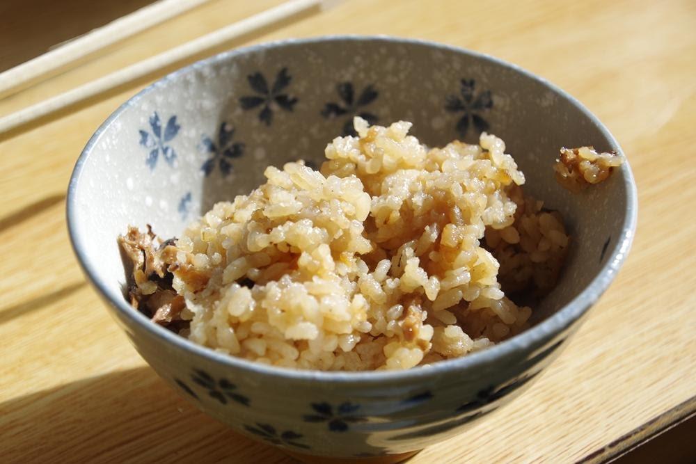 画像: (筆者撮影)おかわり可能な松茸ご飯