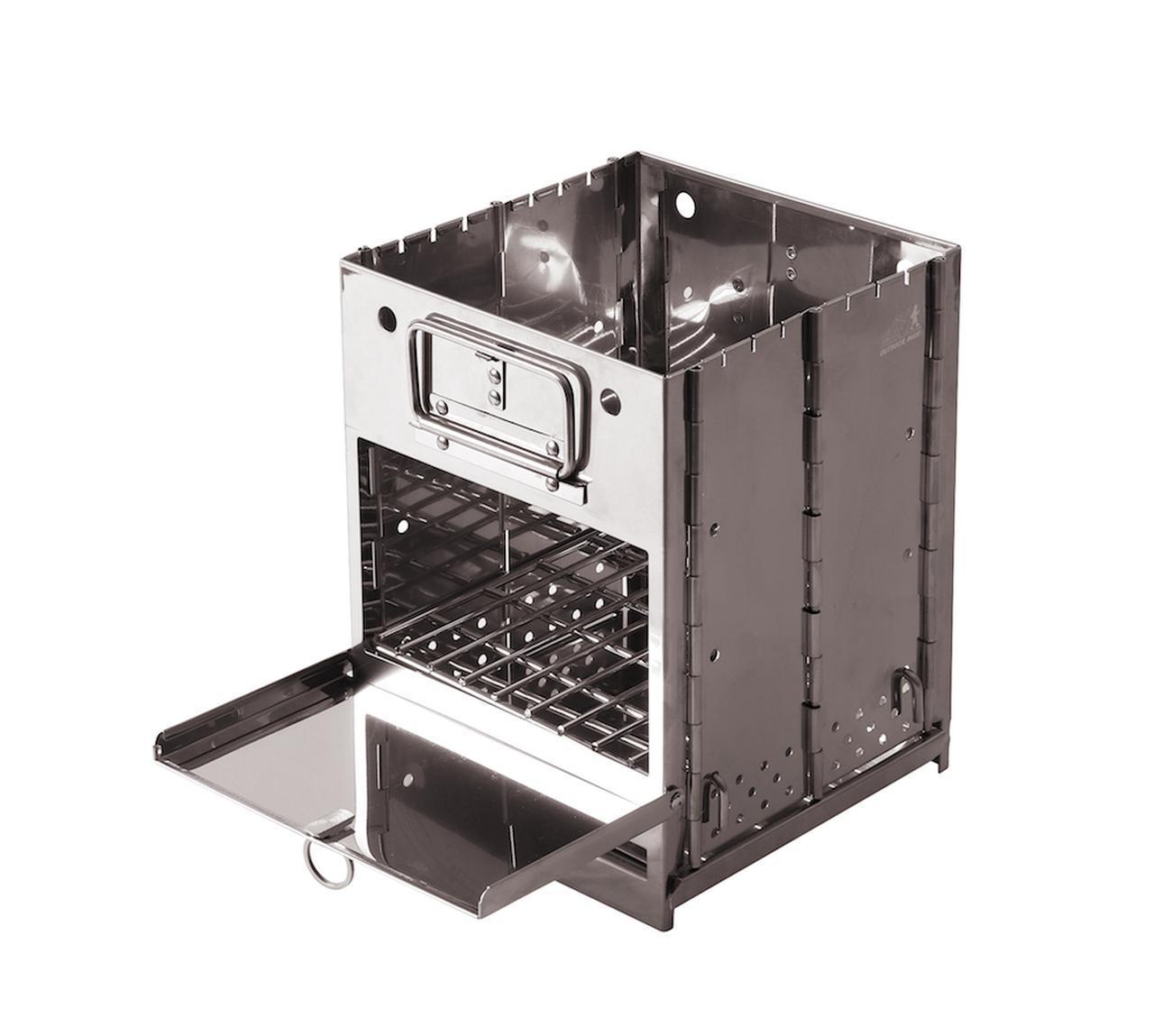 画像1: 「FLAME BOX」は、焚き火から調理まで!1台4役の多機能ギア