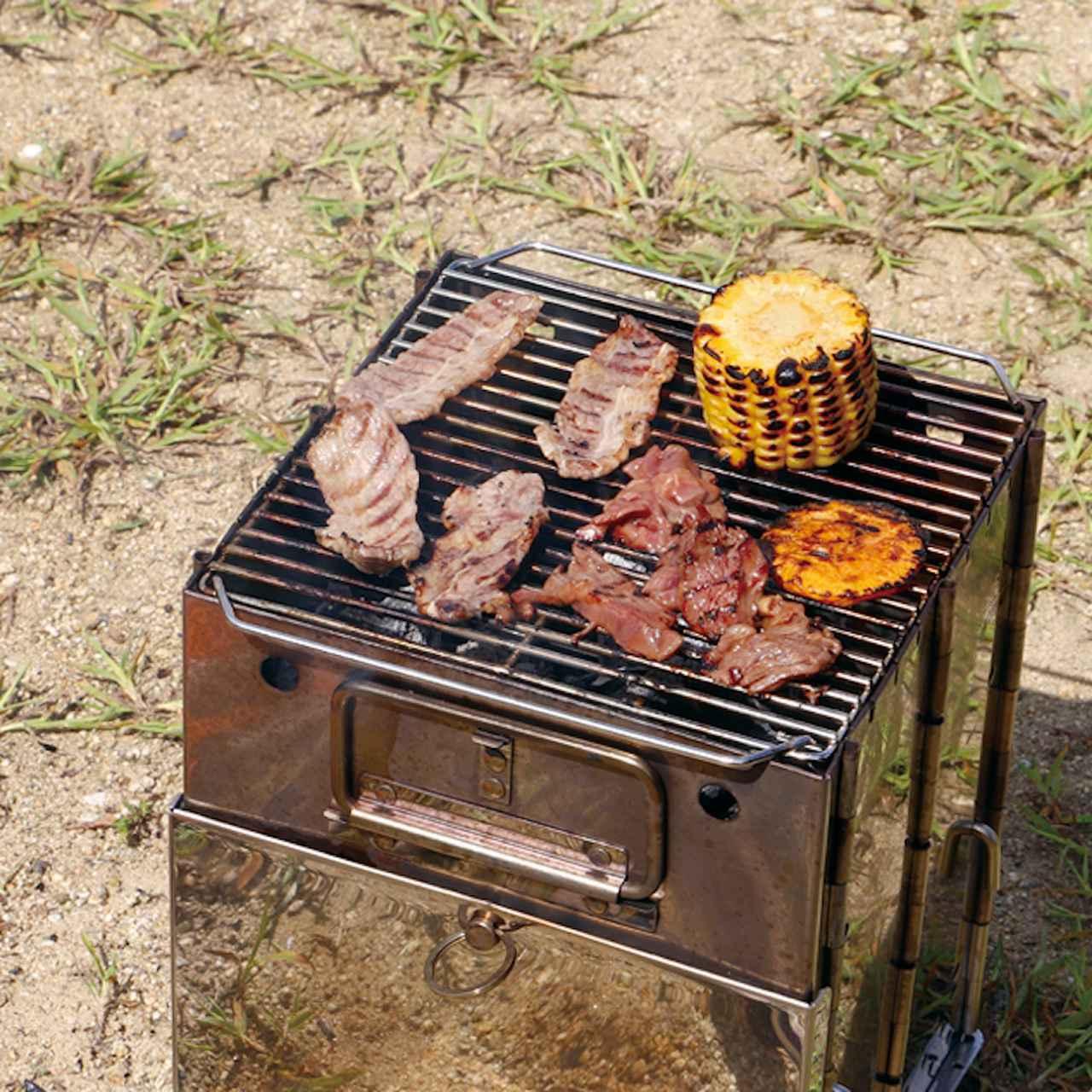 画像2: 「FLAME BOX」は、焚き火から調理まで!1台4役の多機能ギア