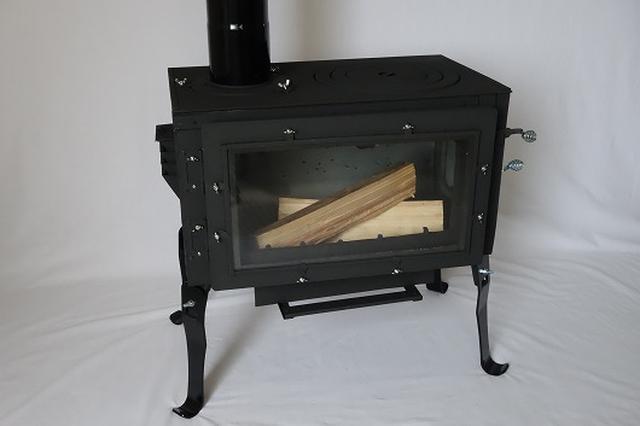 画像: ロマンチカル薪ストーブ煙突上出し 薪ストーブの新保製作所