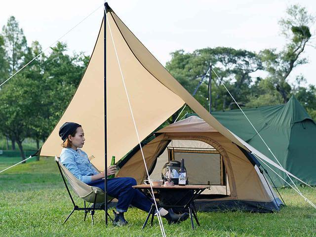 画像4: 無人島の浜辺でひとり野営をしているようなロマンを感じて!ソロキャンプ向きテント&タープ