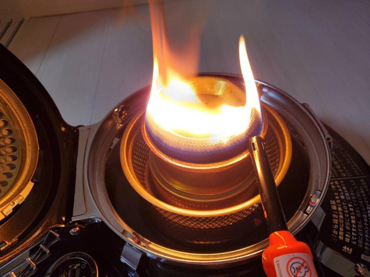 画像: 筆者撮影:着火時