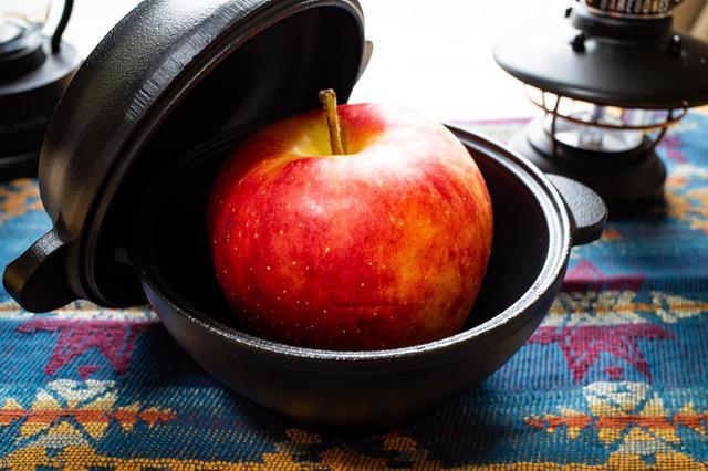 画像: ライター撮影 りんごがジャストサイズ!