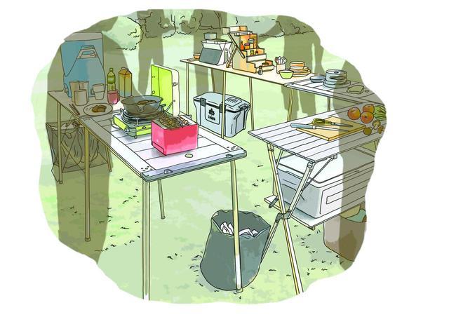 画像14: イラスト提供・キャンプ情報誌「 fam_mag(ファム マグ)」