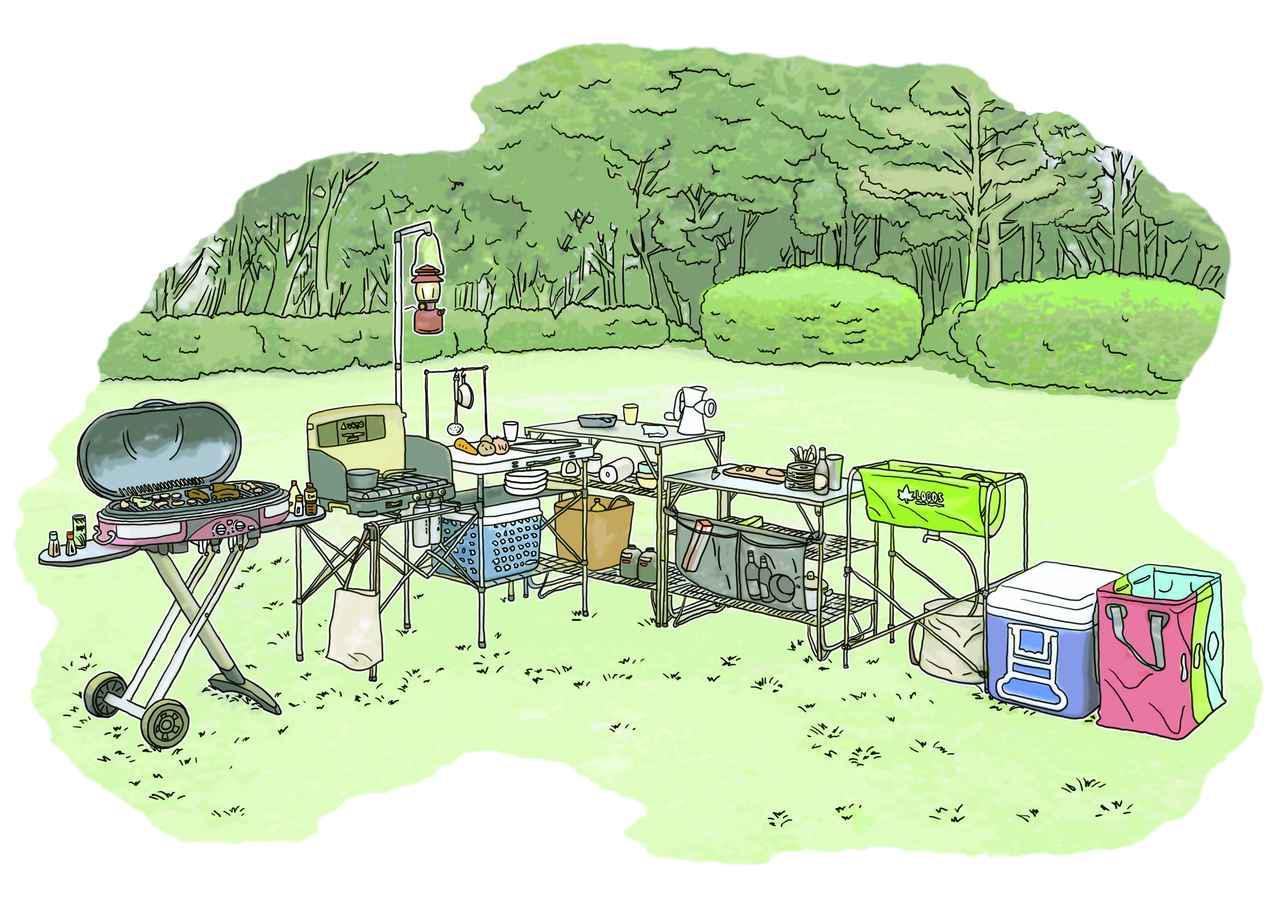 画像1: イラスト提供・キャンプ情報誌「 fam_mag(ファム マグ)」