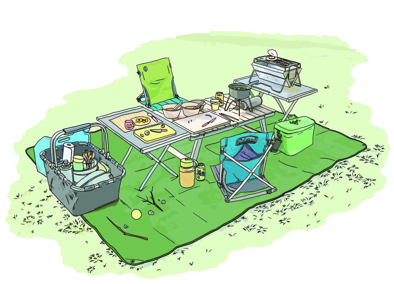 画像3: イラスト提供・キャンプ情報誌「 fam_mag(ファム マグ)」