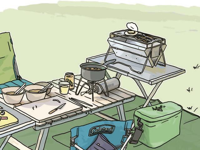 画像9: イラスト提供・キャンプ情報誌「 fam_mag(ファム マグ)」