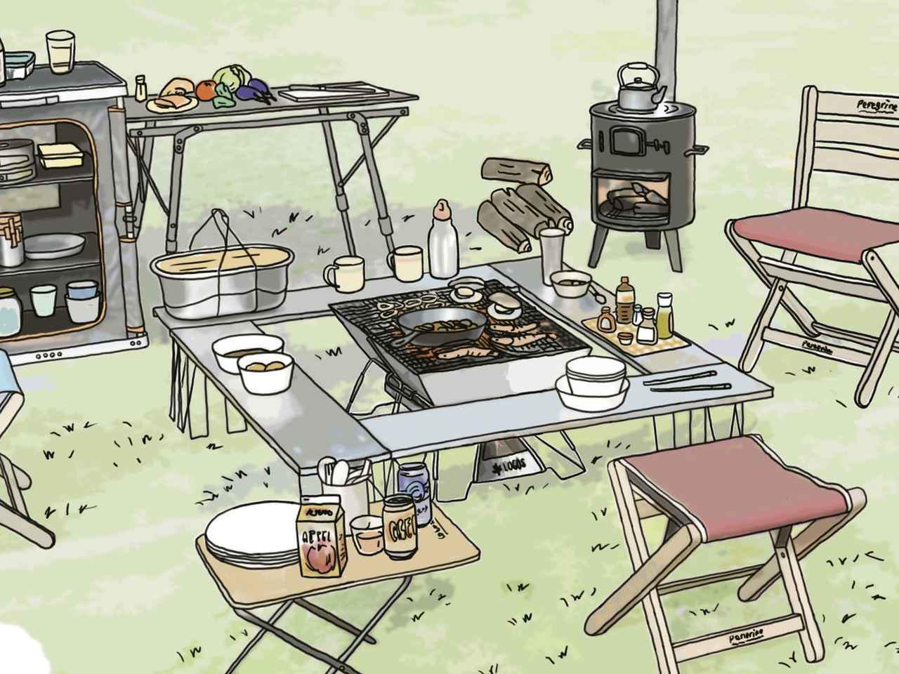 画像15: イラスト提供・キャンプ情報誌「 fam_mag(ファム マグ)」